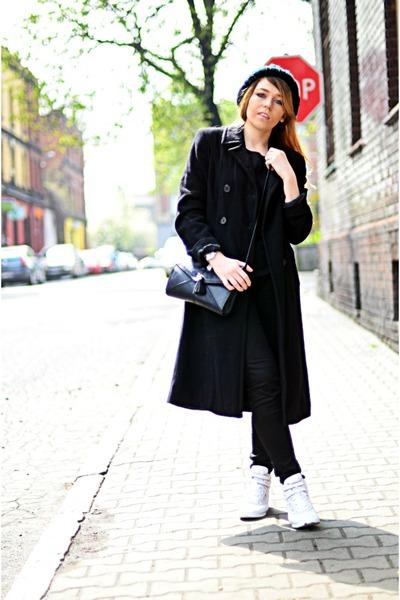 white white sneakers Reebok sneakers - black longline coat no name coat