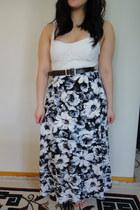 vintage skirt - lace bodice American Eagle dress - Old Navy belt