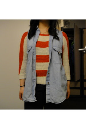 H&M jeans - Forever 21 sweater