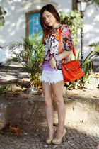 shorts - shirt - bag - pumps