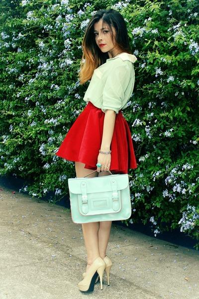 skirt - bag - blouse - pumps