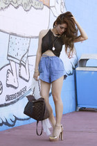 chiffon cape chiffon button down blouse - denim drawstring shorts shorts