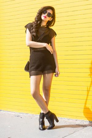 Miu Miu sunglasses - asos top - lace cosabella bra