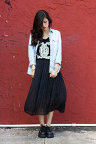 UNIF top - denim American Eagle shirt - chiffon Ebay skirt