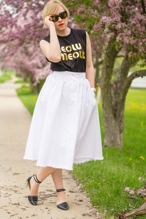 denim H&M skirt
