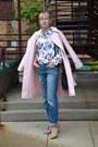 Pink-trench-coat-ralph-lauren-coat-blue-jeans-levis-jeans