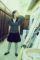 gray Target socks - black SAS shoes - black H&M shirt - gray Forever 21 shirt