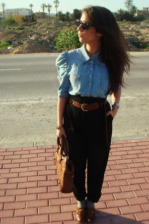 H&M shirt - Zara pants - Primark shoes - H&M hat - Purificacion Garcia accessori