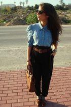 H&M shirt - Zara pants - Primark shoes - H&M hat - Purificacion Garcia accessori