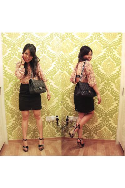 Chanel Bag Black Black Jumbo Caviar Chanel Bag