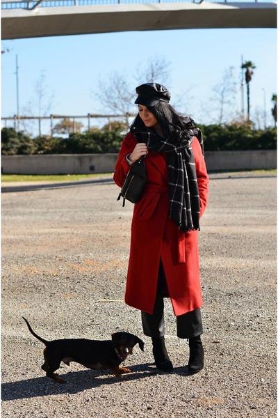 ruby red Mango coat