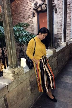 gold Zara pants