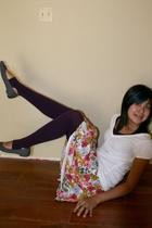 tights - skirt - shirt - shoes