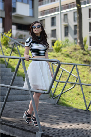 white Front Row Shop skirt - romwe top