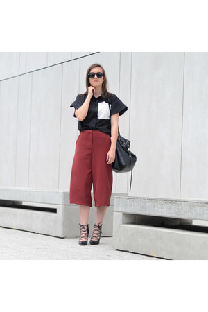black bitly-1gvt4qg Blouse shirt - crimson bitly-1gvt4qg pants pants