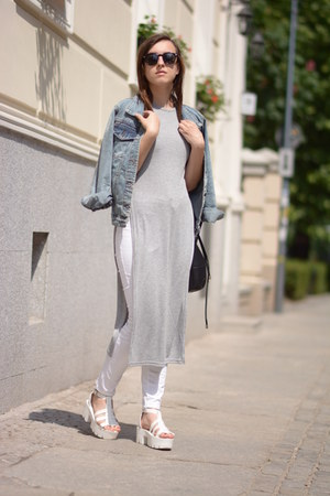 Sheinside jacket - off white DressLink pants