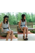 bowler hat Urban Outfitters hat - blue chambray Libby Story dress