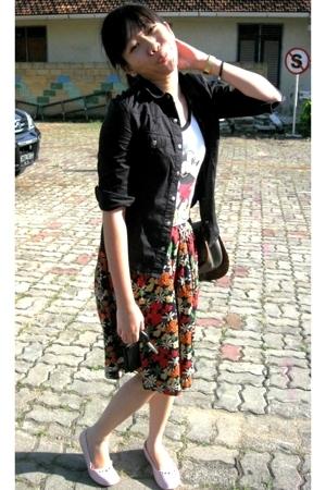 jacket - top - skirt - Crocs shoes