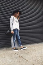Primark cardigan - shoes - Levis jeans - H&M hat - Zara bag - Zara top