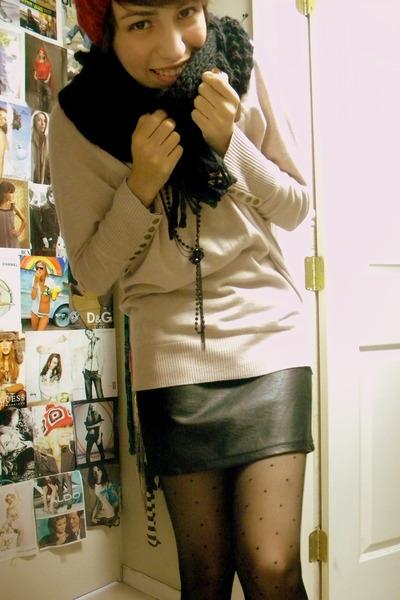 black Forever 21 scarf - black Target skirt