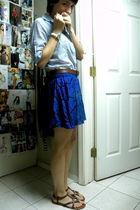 Forever 21 skirt - Gap shirt - Gap belt - Aldo shoes - Forever 21 earrings