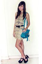 random from Bangkok top - Forever 21 shoes - Chic Parade bag