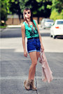 Aquamarine-androgynous-top-blue-made-you-look-shorts-silver-gift-necklace-