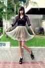 Black-f-stop-top-shop-vintage-finds-skirt-cintura-belt-black-shoes