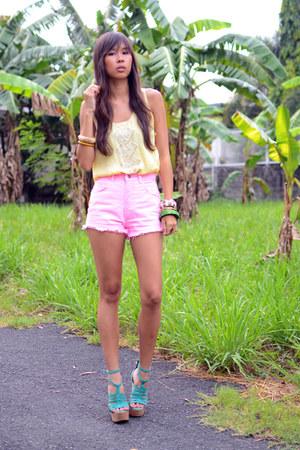 bubble gum high waist The Second Shop shorts