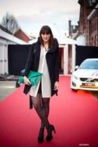 Zara coat - asos bag - Monki blouse