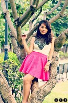 hot pink skater aparadorph online shop skirt - white random brand dress