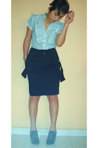 blouse - skirt - shoes
