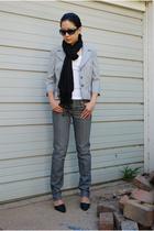 Semantiks blazer - Target scarf - Adriano Goldschmied the Stilt jeans - Tino Lan