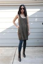 Armani Exchange dress - unisa boots - HUE tights