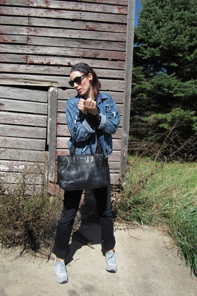 125dfbaa4b8 kate spade purse - Guess jeans - thrifted jacket - Miss Me shirt