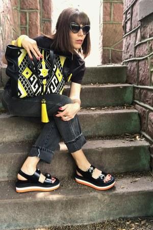 Rebecca Minkoff purse - Prada sunglasses - Mulberry sandals