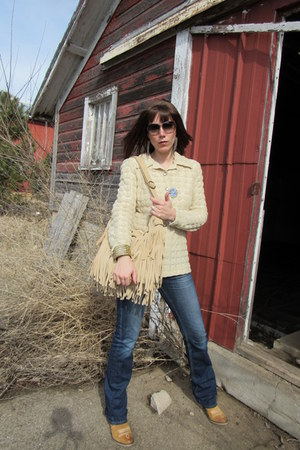 Sundance boots - Kasil Workshop jeans - vintage shirt - banana republic purse