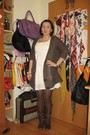 White-h-m-dress-brown-zara-cardigan-brown-wolford-tights-brown-zara-boots-