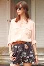 Lenna-agnes-shorts-pocket-blouse-blouse-vintage-belt