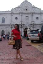 Sylvia Santos bag - Penshoppe blouse