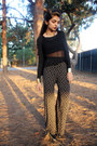 Black-net-cropped-wet-seal-blouse-black-gypsy-diy-pants