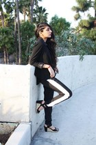 black structured Forever 21 blazer - black track kensie pants