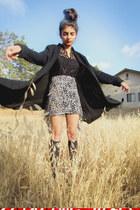 sweater Macys sweater - peplum top Charlotte Russe blouse - skirt DIY skirt