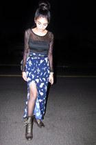 vintage skirt - Q top