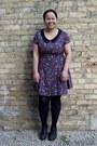 Deep-purple-toshi-dress-black-walmart-tights-black-aldo-wedges