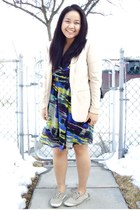 Dynamite dress - beige H&M blazer - tan Keds sneakers