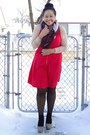 Red-lola-dress-black-joe-fresh-style-tights-brown-urban-scarf