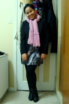 black Suzy Shier blazer - pink scarf - gray Urban Behaviour dress - black Vero M