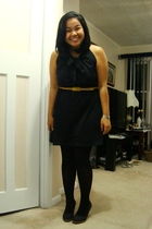 landmark dress - joe fresh style belt - payless tights - Celine shoes