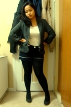 Dynamite blazer - Greenhills top - joe fresh style shorts - Ardene tights - Celi